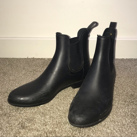 Sam Edelman Tinsley Rubber Black Boot Sz 9